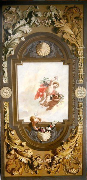 Three Putti, 1696 by Adriaen Van Der Werff - Reproduction Oil Painting