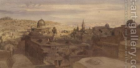 Jerusalem by Carl Friedrich H. Werner - Reproduction Oil Painting
