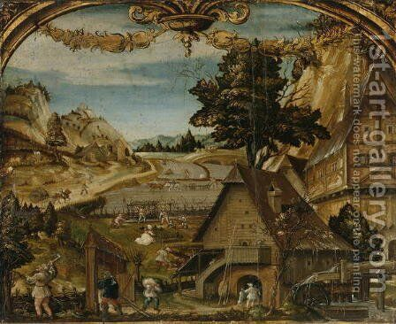 The Month of March, c.1525-26 by Hans Wertinger - Reproduction Oil Painting