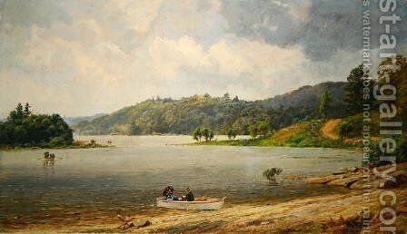 On the Wawayanda Lake, New Jersey by Jasper Francis Cropsey - Reproduction Oil Painting