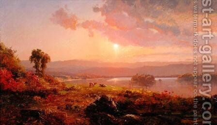 Susquehanna River, 1876 by Jasper Francis Cropsey - Reproduction Oil Painting