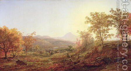 Autumn at Mount Chocorua, 1869 by Jasper Francis Cropsey - Reproduction Oil Painting