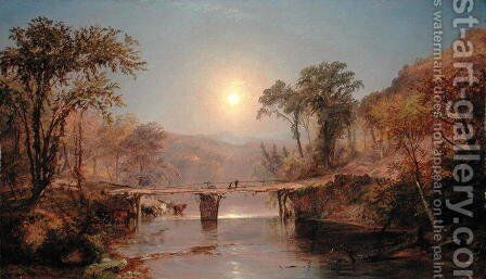 Indian Summer on the Delaware River, 1882 by Jasper Francis Cropsey - Reproduction Oil Painting