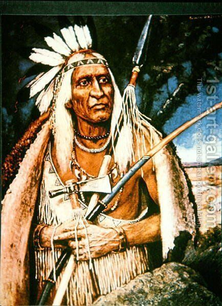 Iroquois Chief by Henry H. Cross - Reproduction Oil Painting