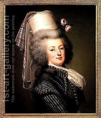 Marie-Antoinette (1755-93) of Habsbourg-Lorraine, Archduchess of Austria, Queen of France and Navarre, 1788 by Adolph Ulrich Wertmuller - Reproduction Oil Painting