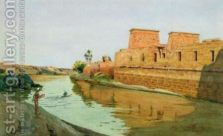 Philae on the Nile, 1894 by Alexander West - Reproduction Oil Painting