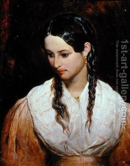The Innkeepers Daughter by Charles Cope West - Reproduction Oil Painting