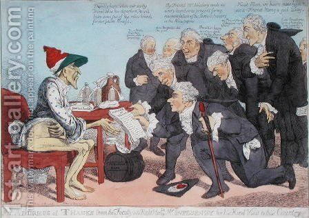 An Address of Thanks from the Faculty to the Right Hon. Mr. Influenzy for his Kind Visit to the Country, 1803 by James West - Reproduction Oil Painting