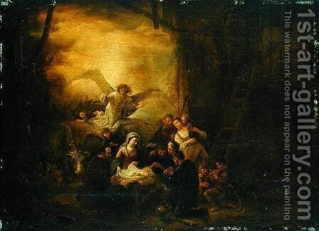 The Adoration of the Shepherds, c.1650 by Jacob Willemsz de Wet the Elder - Reproduction Oil Painting