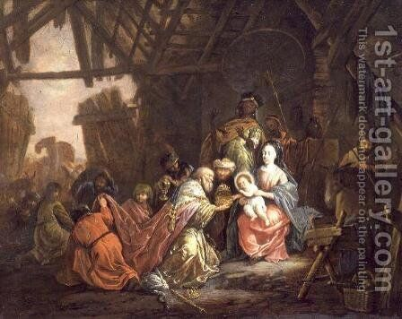 The Adoration of the Magi by Jacob Willemsz de Wet the Elder - Reproduction Oil Painting