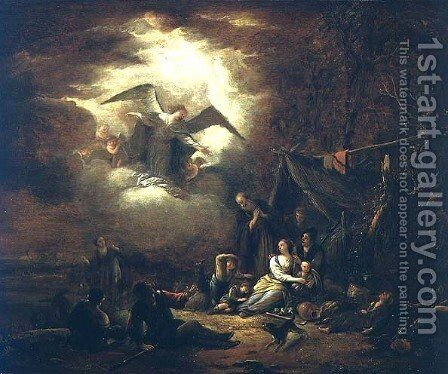 Angels Annunciation to the Shepherds by Jacob Willemsz de Wet the Elder - Reproduction Oil Painting