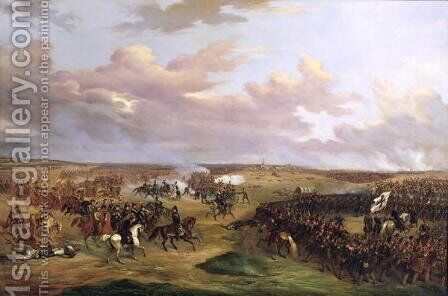 The Battle of Dennewitz, 6 September 1813, 1842 by Alexander Wetterling - Reproduction Oil Painting