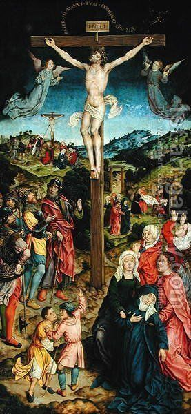 Christ on the Cross by Goossen van der Weyden - Reproduction Oil Painting