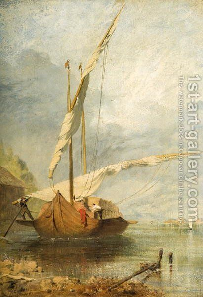 Coast Scene, 1851 by Henry Clarence Whaite - Reproduction Oil Painting
