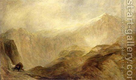 Snowdon by Henry Clarence Whaite - Reproduction Oil Painting