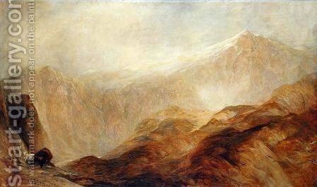 Snowdon 2 by Henry Clarence Whaite - Reproduction Oil Painting