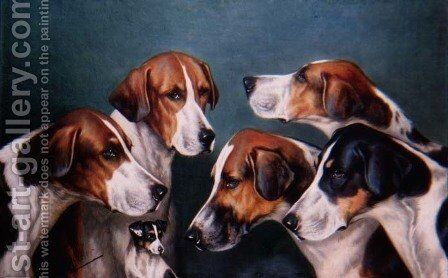 Five Knaves and a Jack by John Arnold Wheeler - Reproduction Oil Painting