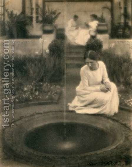 The Fountain by Clarence Henry White - Reproduction Oil Painting