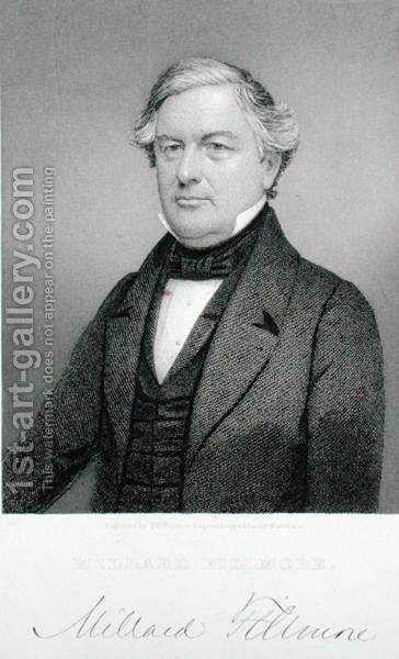 Millard Fillmore, engraved by Thomas B. Welch (1814-74) after a daguerreotype by (after) Whitehurst, Jesse H. - Reproduction Oil Painting