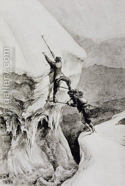 Is it Possible, from Scrambles Amongst the Alps, by Edward Whymper, published 1871 by Edward Whymper - Reproduction Oil Painting