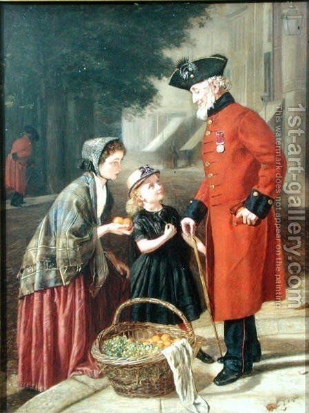The Chelsea Pensioner by J. Wighton - Reproduction Oil Painting