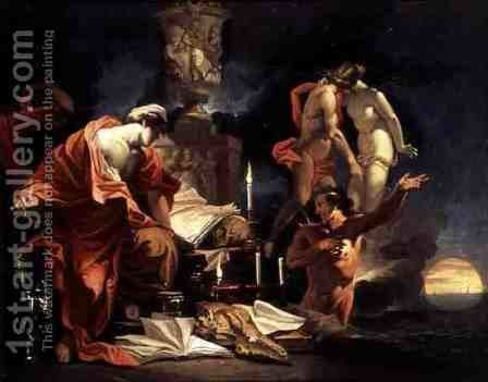 Astrologer Observing the Equinox, c.1680 by Domenicus van (Ascanius) Wijnen - Reproduction Oil Painting
