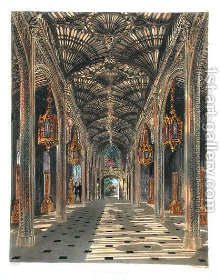 The Conservatory, Carlton House, from 'The History of the Royal Residences' by William Henry Pyne (1769-1843) engraved by Thomas Sutherland (b.1785) published 1819 by Charles Wild - Reproduction Oil Painting
