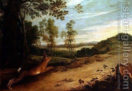 The Tortoise and the Hare, from Aesops Fables by Jan Wildens - Reproduction Oil Painting