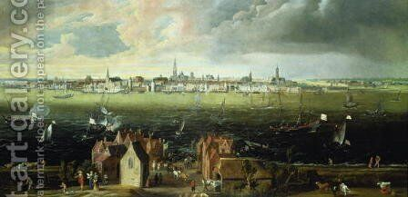 View of Antwerp from the River Schelde by Jan Wildens - Reproduction Oil Painting