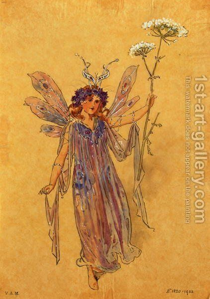 A Fairy, costume design for A Midsummer Nights Dream, produced by R. Courtneidge at the Princes Theatre, Manchester by C. Wilhelm - Reproduction Oil Painting