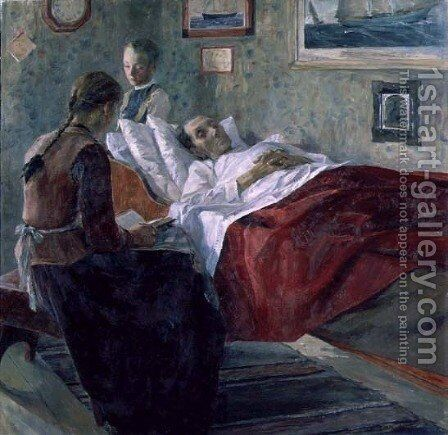 Resignation, 1895 by Carl Wilhelm Wilhelmson - Reproduction Oil Painting