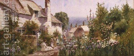 A Devonshire Garden by Arthur Stanley Wilkinson - Reproduction Oil Painting