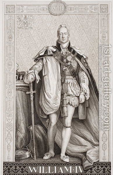 William IV (1765-1837) from Illustrations of English and Scottish History Volume II by Sir David Wilkie - Reproduction Oil Painting