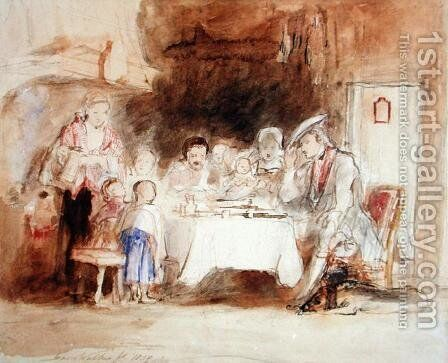 Grace before Meat, 1839 by Sir David Wilkie - Reproduction Oil Painting