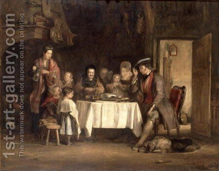 Grace Before Meat by Sir David Wilkie - Reproduction Oil Painting