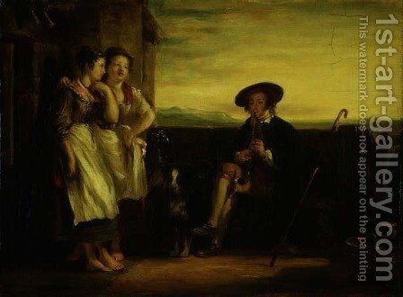 A Scene from the Gentle Shepherd, c.1823 by Sir David Wilkie - Reproduction Oil Painting