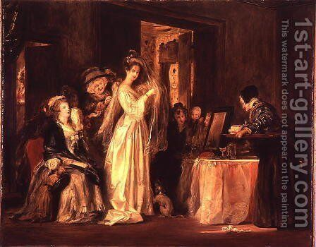 The Bride at her Toilet, 1838 by Sir David Wilkie - Reproduction Oil Painting