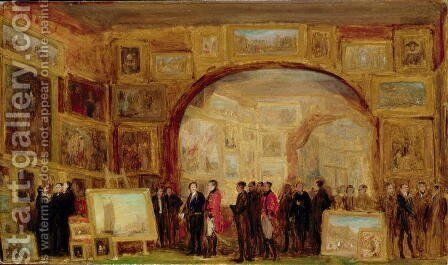 An Exhibition of Old Masters at the British Institution by Sir David Wilkie - Reproduction Oil Painting