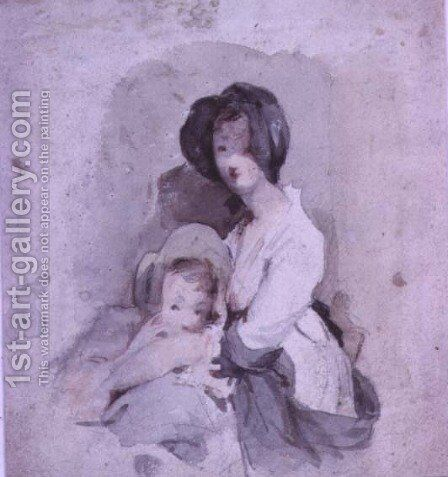 A Study of the Baby in the Peep o Day Boy by Sir David Wilkie - Reproduction Oil Painting