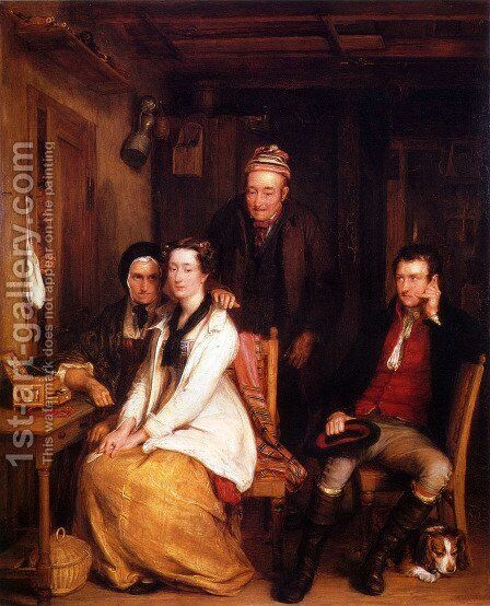 The Refusal from Burn's Duncan by Sir David Wilkie - Reproduction Oil Painting