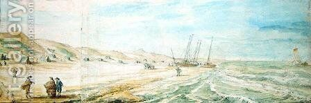 The Beach at Wijk aan Zee by Abraham Willaerts - Reproduction Oil Painting