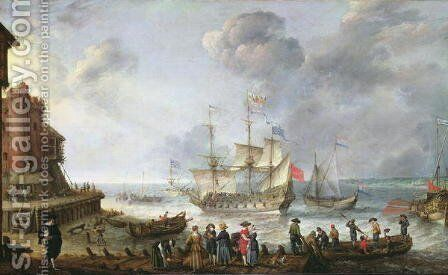 Ships Arriving in a Port by Adam Willaerts - Reproduction Oil Painting