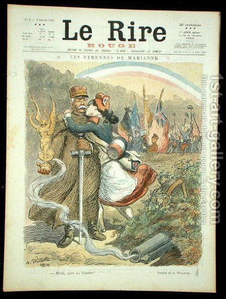 Thank You, Father Victory, front cover of Le Rire Rouge, 2 January 1915 by Adolphe Willette - Reproduction Oil Painting