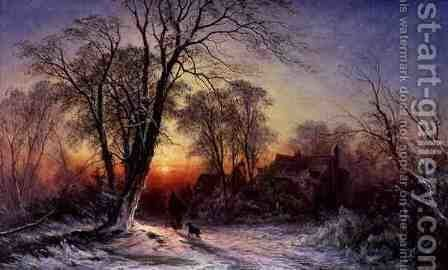 Winters Evening by Caroline Williams - Reproduction Oil Painting