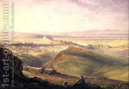 Edinburgh from Arthurs Seat by Hugh William Williams - Reproduction Oil Painting