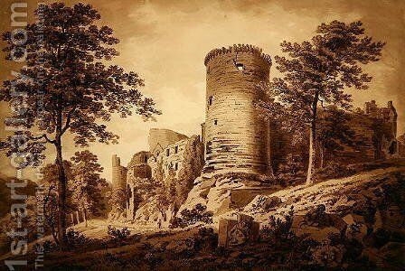 Castle Ruins by Hugh William Williams - Reproduction Oil Painting