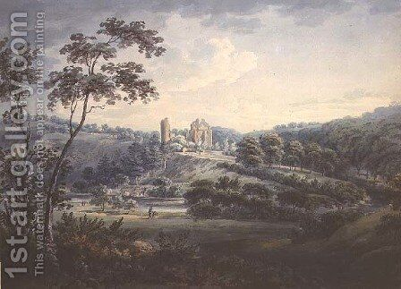 Rosslyn Castle, Midlothian by Hugh William Williams - Reproduction Oil Painting