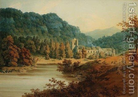 Dunkeld Cathedral by Hugh William Williams - Reproduction Oil Painting