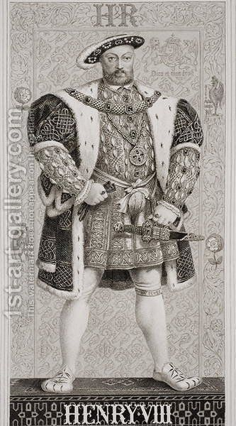 Henry VIII (1491-1547) from Illustrations of English and Scottish History Volume I by (after) Williams, J.L. - Reproduction Oil Painting