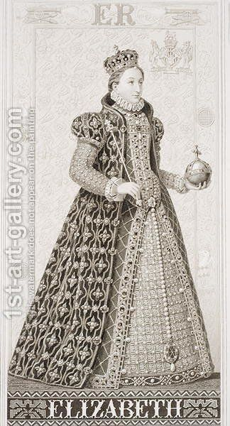 Queen Elizabeth I (1533-1603) from Illustrations of English and Scottish History Volume I by (after) Williams, J.L. - Reproduction Oil Painting